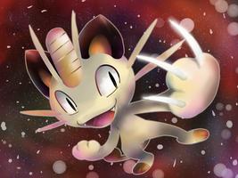 Meowth EX Artwork by nintendo-jr