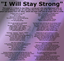 I Will Stay Strong