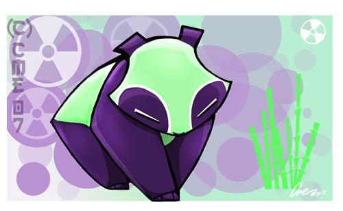 Radioactive Panda by cme