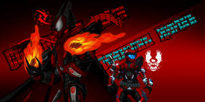 The Scarlet Spartan and the Fire Dragon Slayer.
