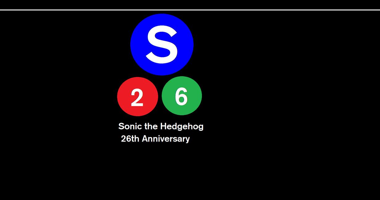 Sonic 26th Anniversary by SubwayArtist47