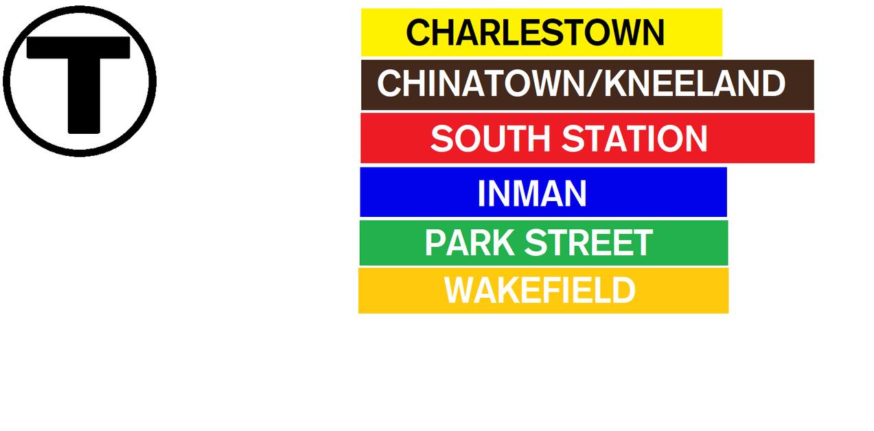 Boston Fan Made Subway Signs by SubwayArtist47