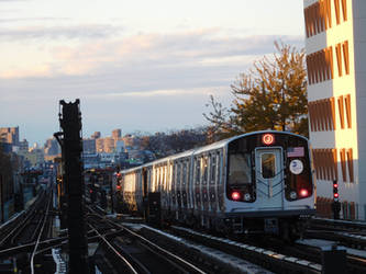 R179 (J) train departing Broadway Junction by SubwayArtist47