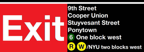 9th Street Station Exit Sign by SubwayArtist47