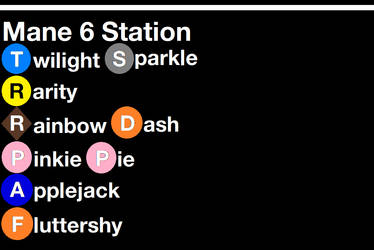 Mane 6 Station Sign by SubwayArtist47