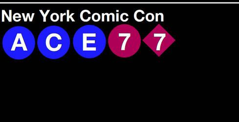 New York Comic Con Subway Sign by SubwayArtist47
