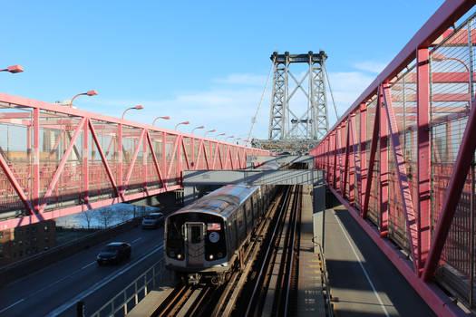 R179 crossing the Williamsburg Bridge