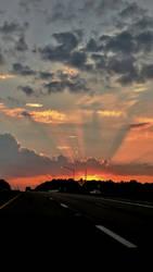 Road Trip Sunset by silvermist999