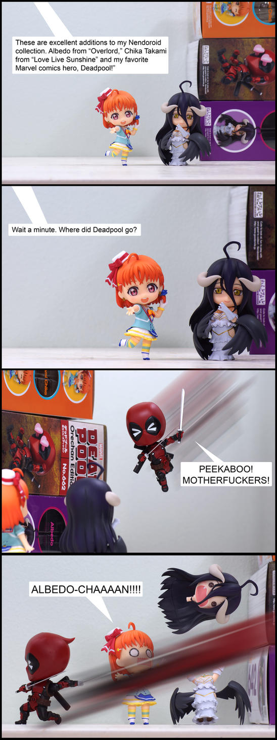 Here Comes Deadpool (Pg 1) by Chocolate-Spider