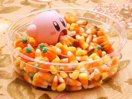 Candy Corn Kirby 1 by Chocolate-Spider