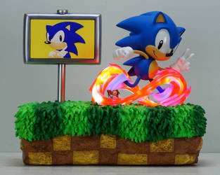 Sonic the Hedgehog 25th Anniversary Diorama Review by Chocolate-Spider