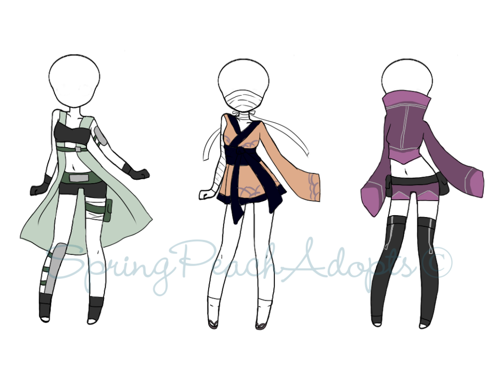 Naruto Outfit Adopts 3 (CLOSED) By SpringPeachAdopts On DeviantArt