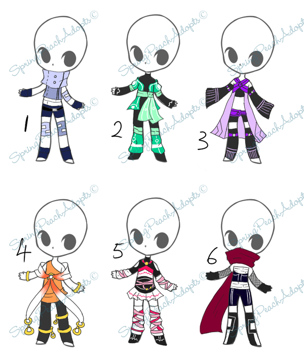 Download Anime Days Batch: Outfit Auction Batch- CLOSED By SpringPeachAdopts On