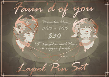 Faun'd of you Collar Lapel chain - Preorder! by BeefxCake