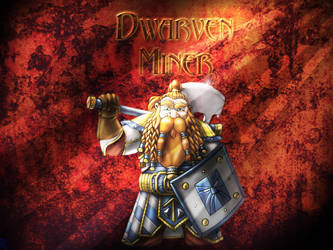 Dwarven Miner FAN ART by nitegirl
