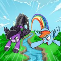 Sky wind vs Rainbow Dash by ex626AKAKeon