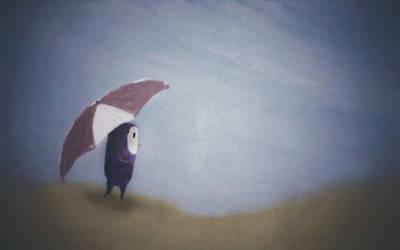 Pinguino in Desert