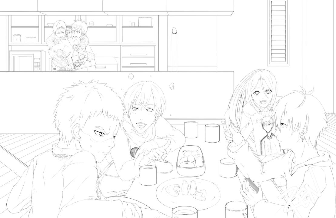 Line Art Kuroko : Kuroko no basuke fc contest lineart by blackacexxx on