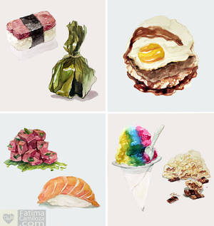 Watercolor: Hawaiian Food Series