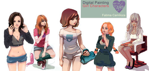 Digital Painting: Girls 01