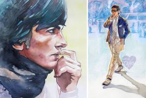 Watercolor Art: Mens Fashion by taho