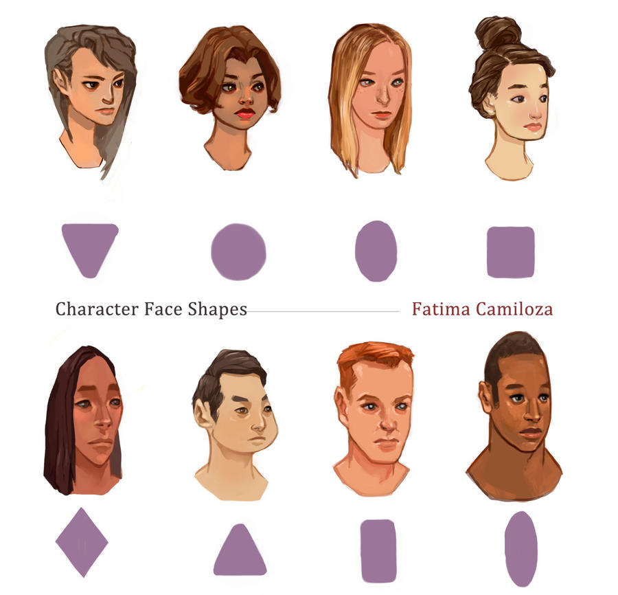 Character Design Head Shapes : Character face shapes by taho on deviantart