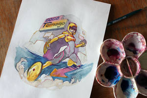 Gogo Tomago Watercolor by taho