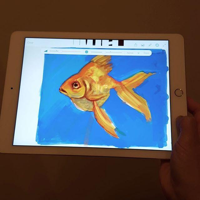 Goldfish Digital Fingerpainting Adobe Sketch App By Taho On Deviantart
