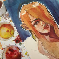 Watercolor Painting Giveaway by taho