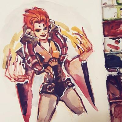 Moira Watercolor by taho