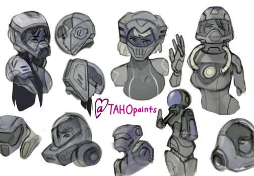 Mech Robot Girl Set 1