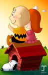 Charlie Brown and the little red haired girl