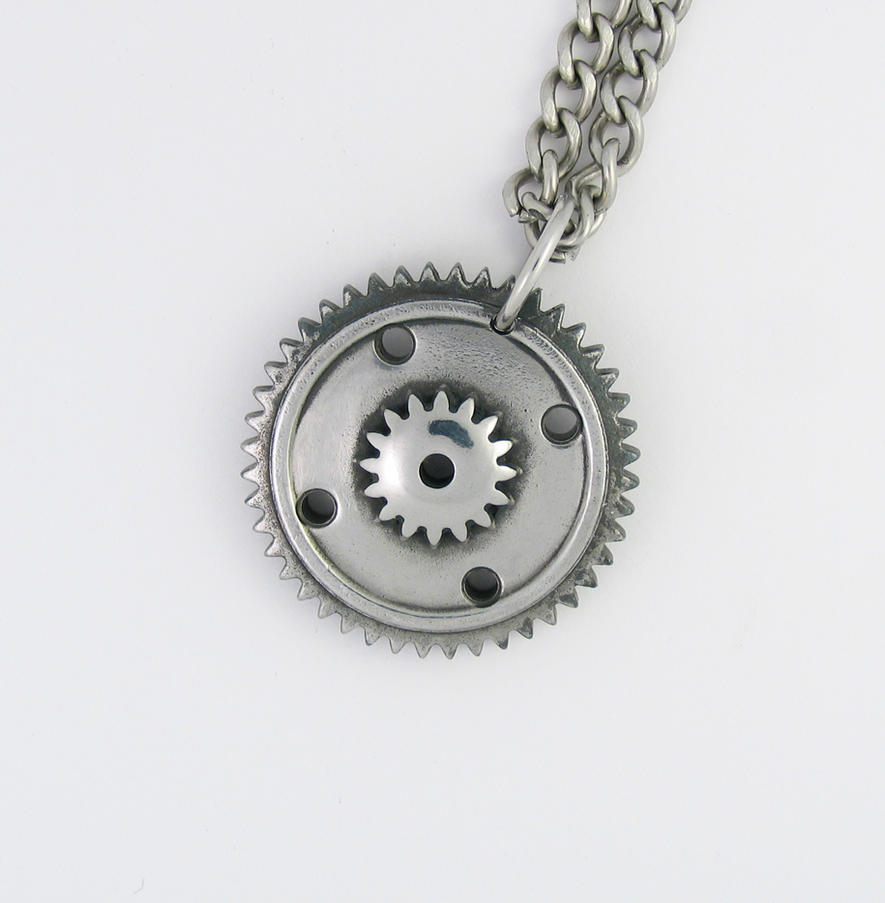 by deviantart on art time gear pendant