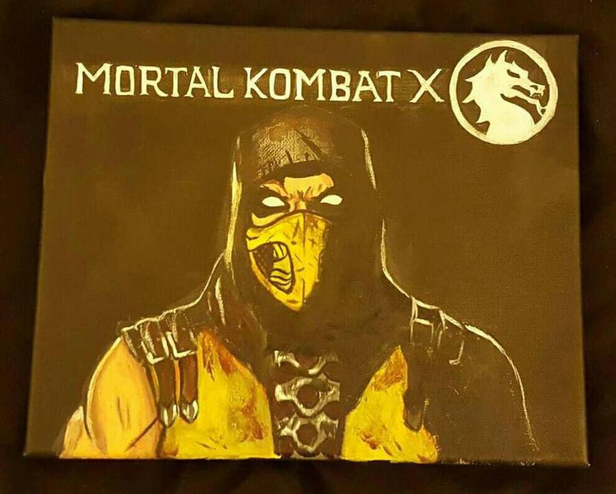 8 x 10 Mortal Kombat X Scorpion by BlueZoooMedia