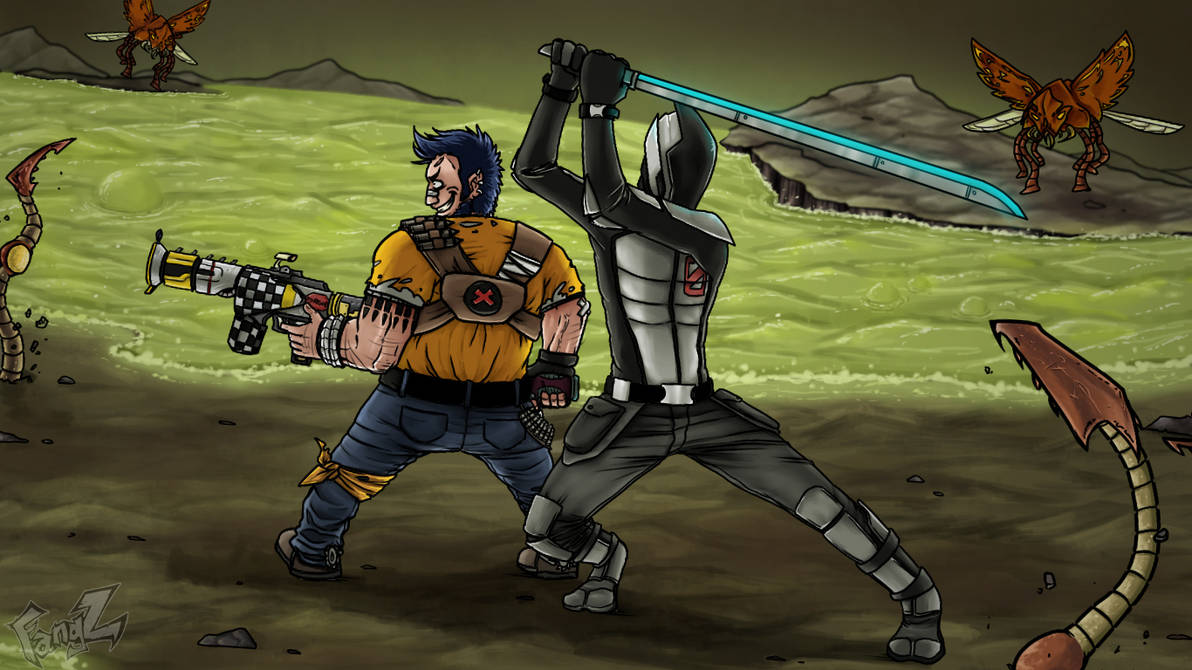 Sal and Zer0 by R3dFangz on DeviantArt
