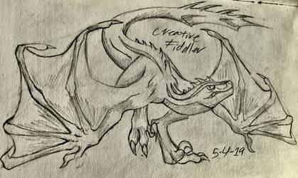 Raptor Dragon Hybrid [Request] by CreativeFiddler