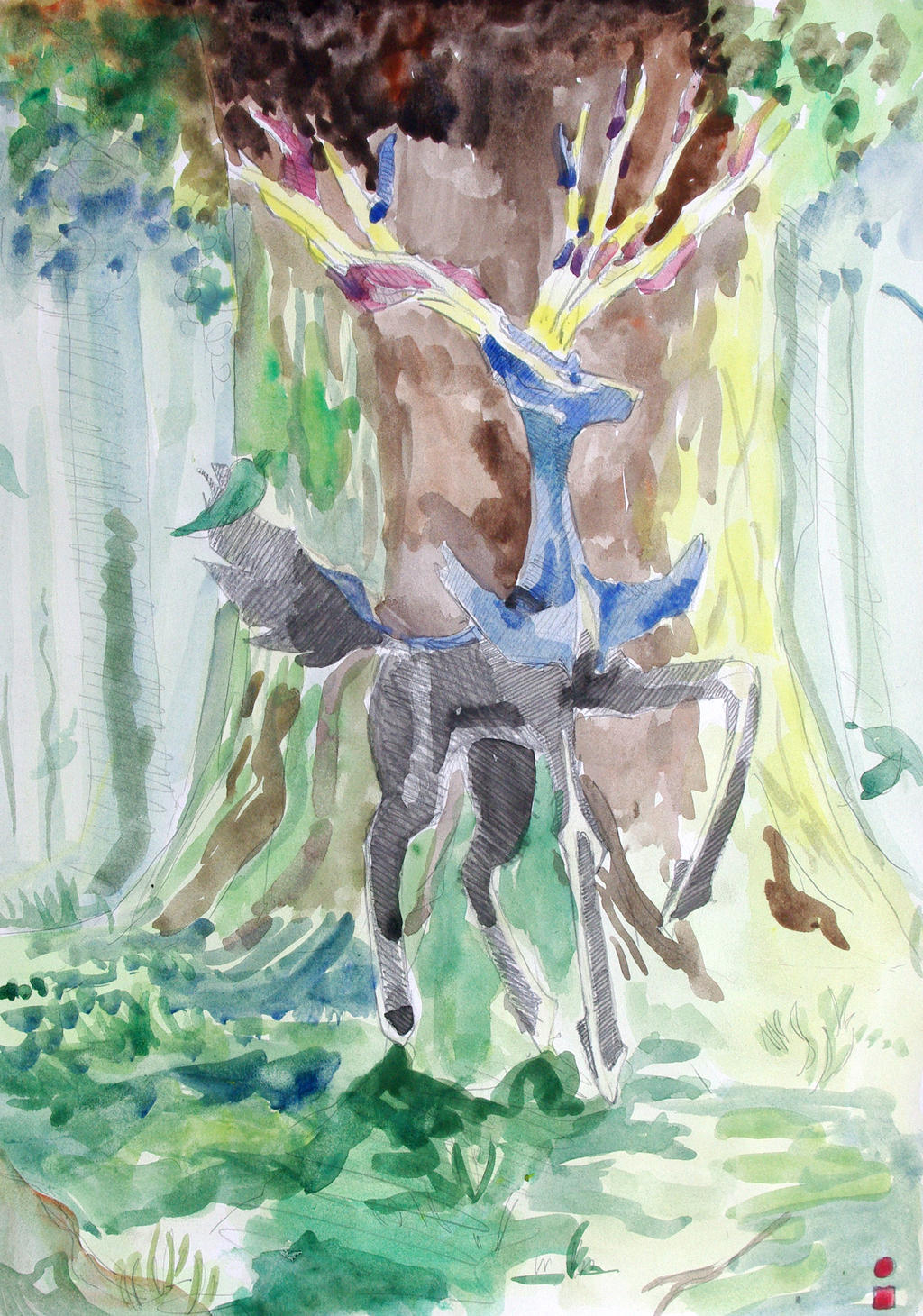 xerneas watercolor by gustavx2