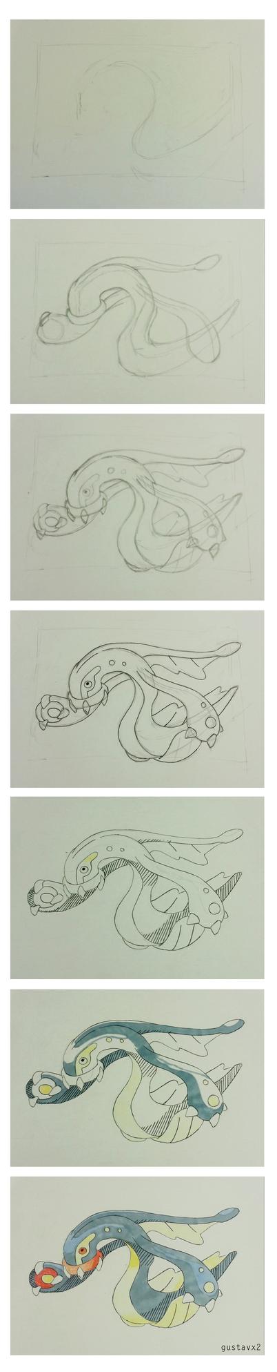 Eelektross (Pokemon) step-by-step by gustavx2