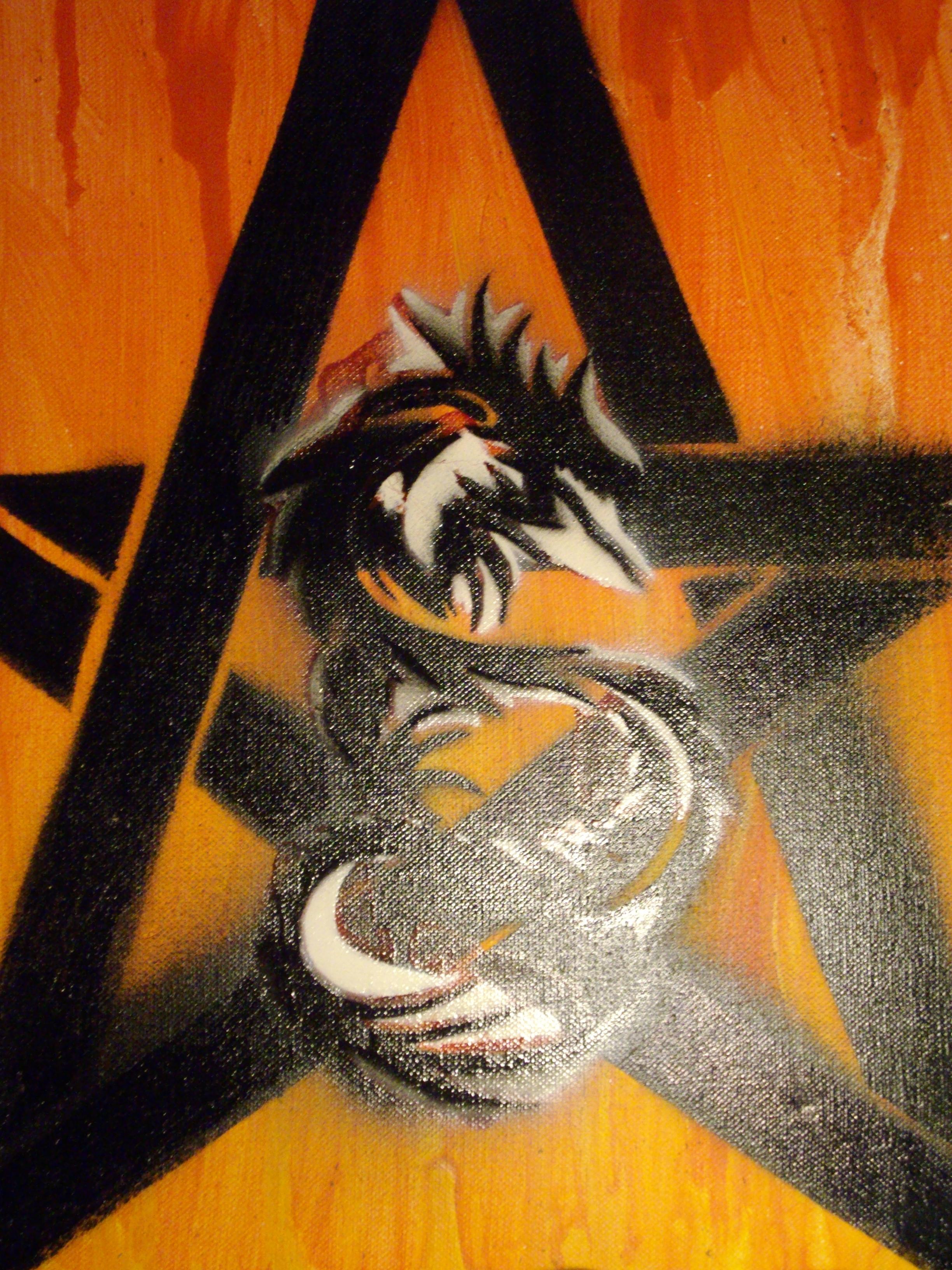 Stencil Dragon by TayJay5 on