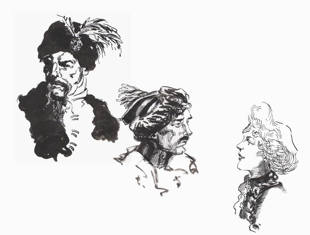 Inking heads by JulieMi