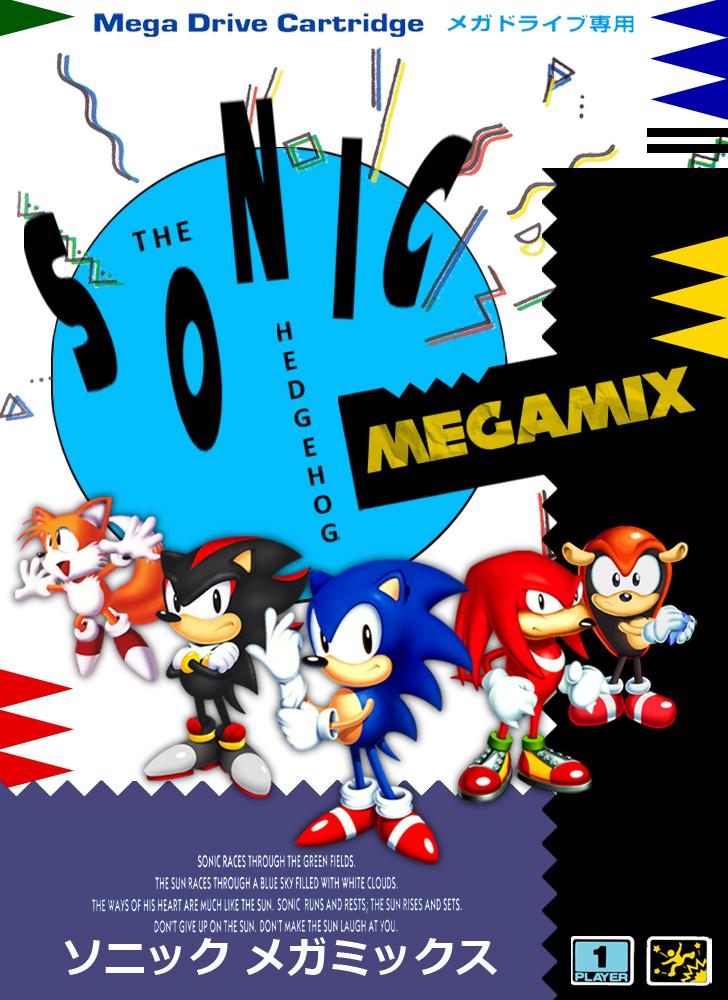 Sonic Megamix Boxart (Sonic 1 Hack) by RollingTombstone