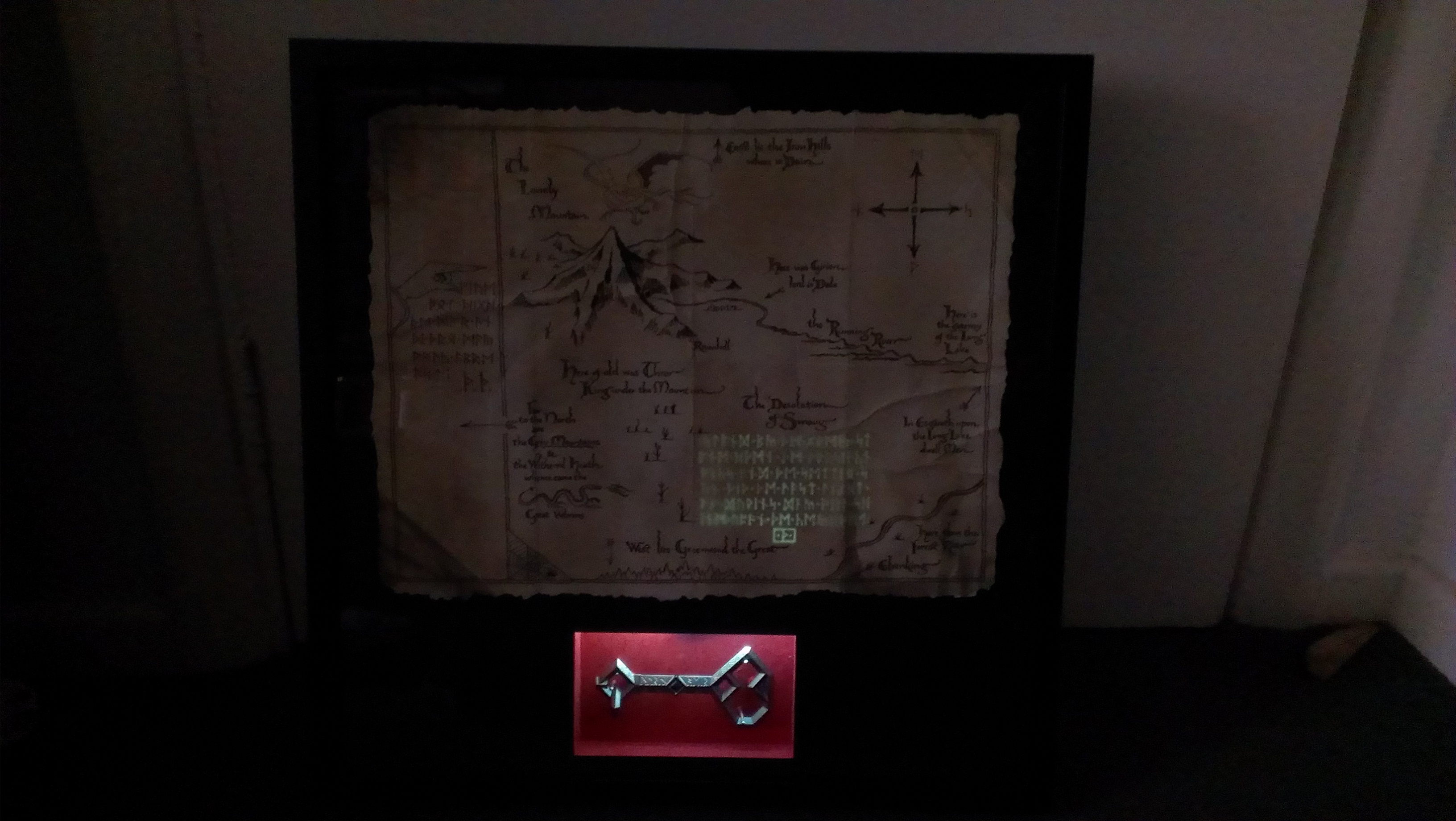 Thorin\'s map with back-lit frame by RollingTombstone on DeviantArt