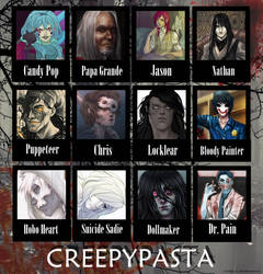 Creepypasta Collage by MysticalSorcery