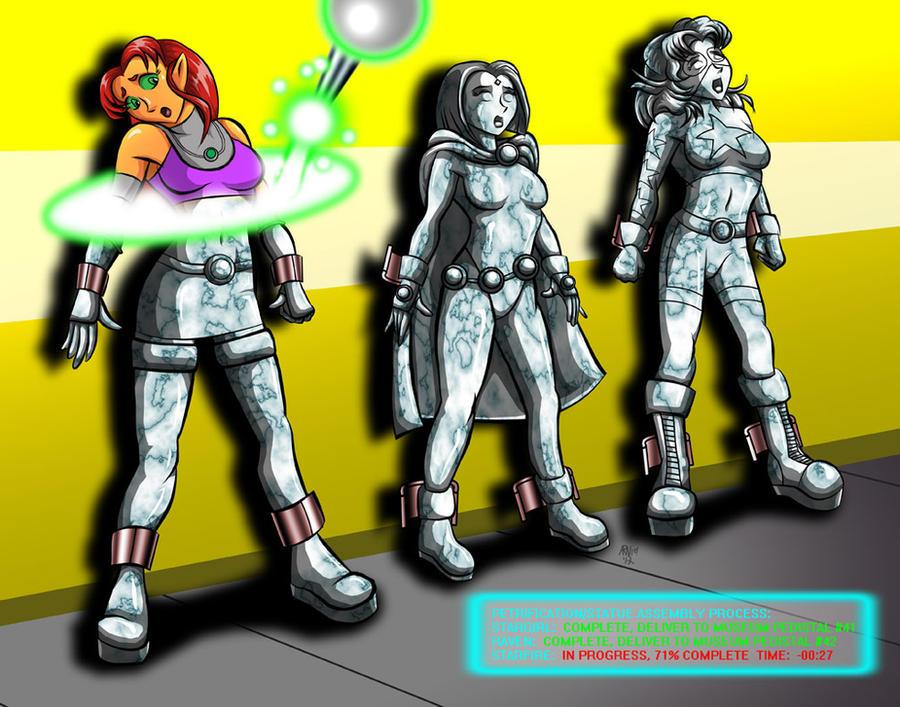 DC Heroine: Assembly Line Peril by ARNie00