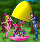 Raven and Starfire Easter Egg