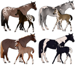 Price Drop!!Mare and Foal ADOPTS [0/8 CLOSED] by PollutedArt