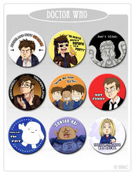 Random DOCTOR WHO - Button Set by kehrilyn