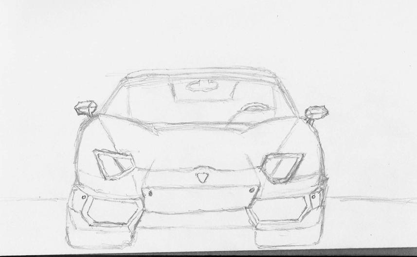 Lamborghini aventador sketch by koenken