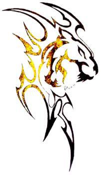 Tribal Tiger by dreamwulf