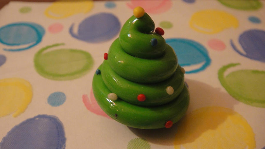 Mini clay christmas tree by riaisawesome on deviantart